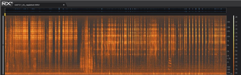 Spectrogram of key jangle test